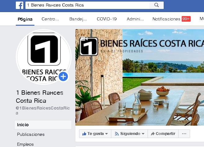 facebook 1 bienes raices costa rica